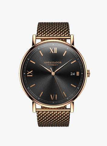 Heritage 1863 – Rose Gold Mesh