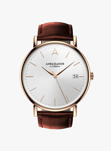 Heritage 1959 – Rose Gold & Brown