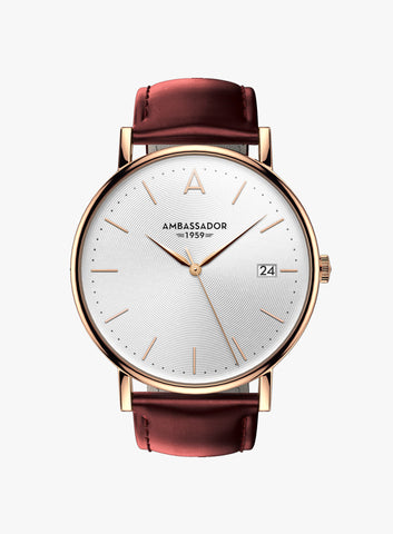 Heritage 1959 – Rose Gold & Burgandy