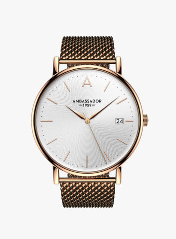 Heritage 1959 – Rose Gold Mesh