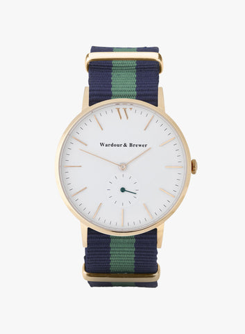 Silverstone Rose Gold – Green Blue Nato