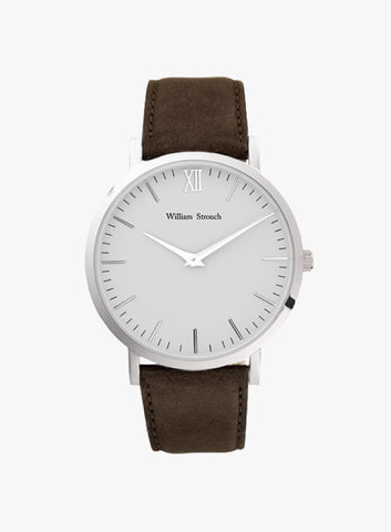 Silver & Brown Watch