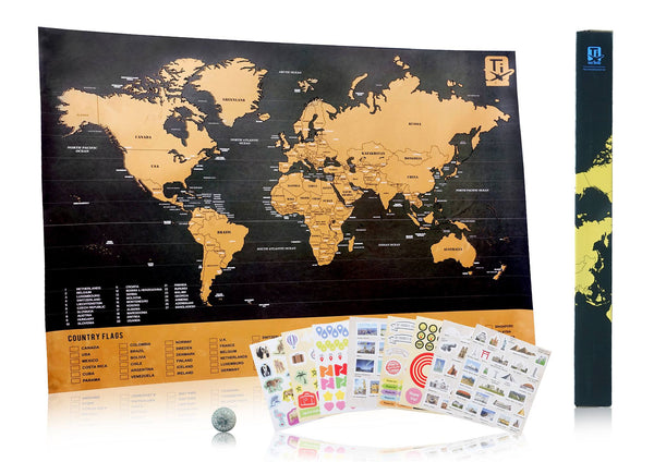 Scratch Travel Map Deluxe