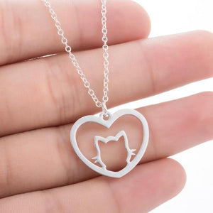 Cat Heart Necklace (Free + Shipping)