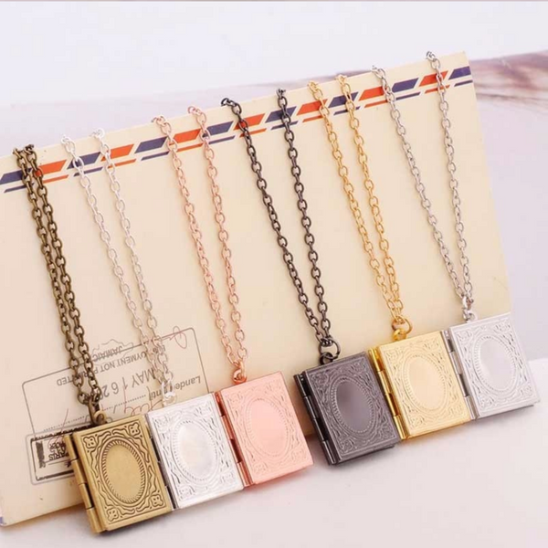 Vintage Book Necklace (Free + Shipping)
