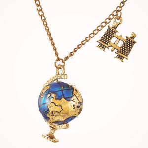 Globe & Binocular Necklace