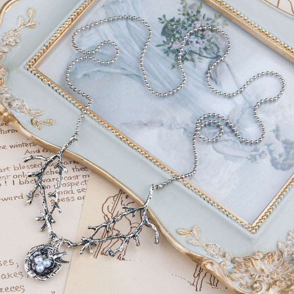 Bird's Nest & Tree Branch Necklace
