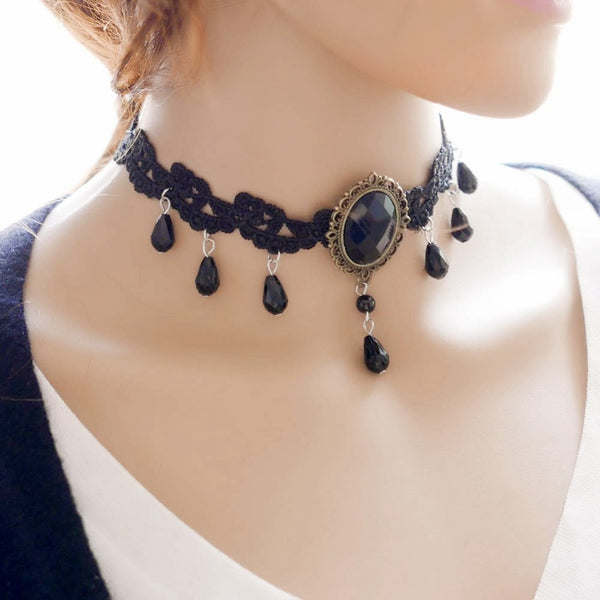 Victorian Gothic Lace Choker