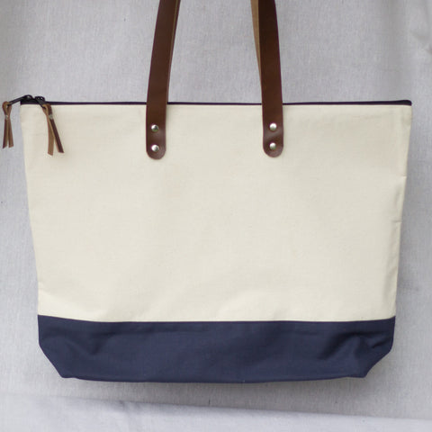 Market Tote (Natural) - Mainland Revival LLC.