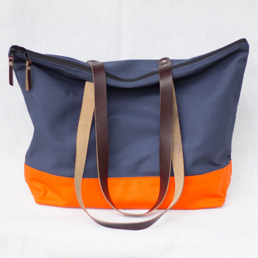 Market Tote (Navy) - Mainland Revival LLC.