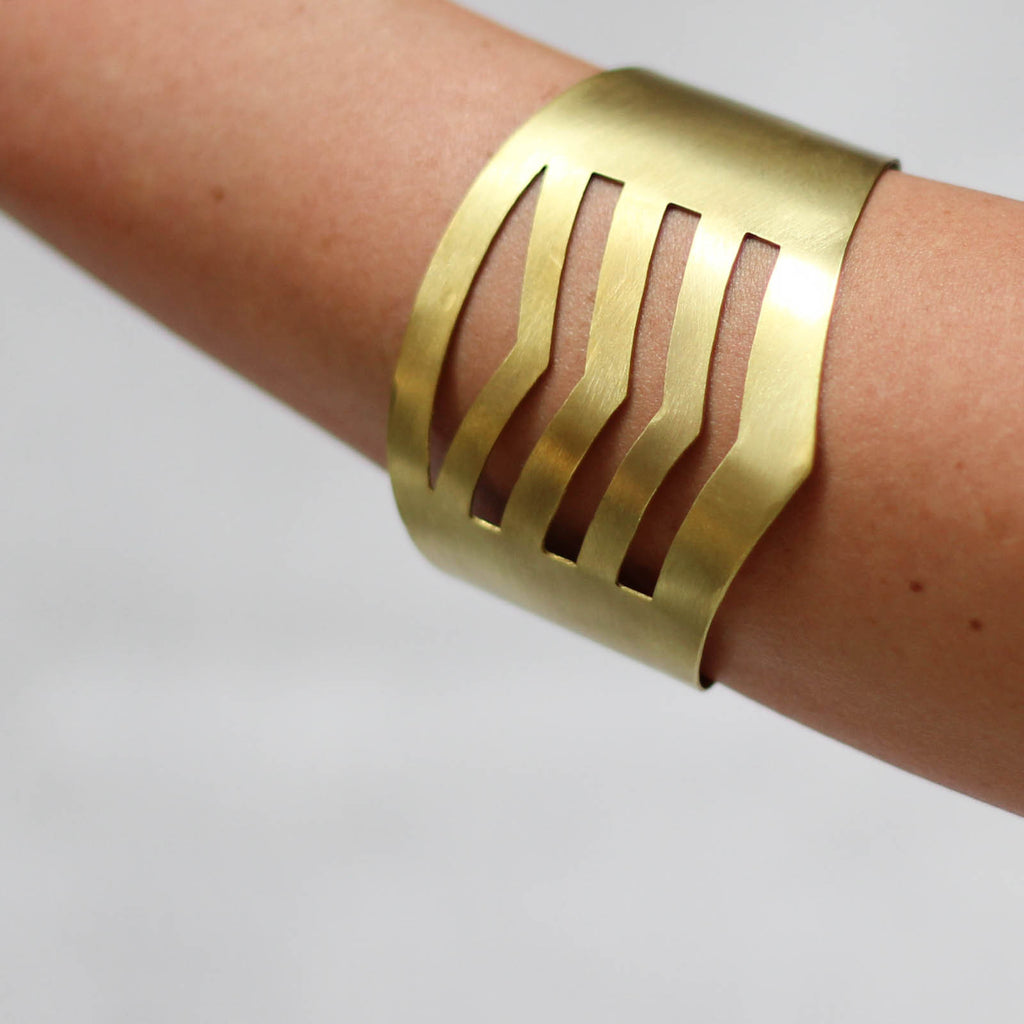 Brass Cuff - Mainland Revival LLC.