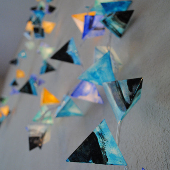 Paper Pyramid Light Garland (Thunderstorm) - Mainland Revival LLC.