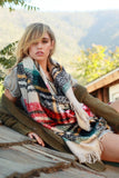 Beige Multi-Color Blanket Scarf - Suede Boutique