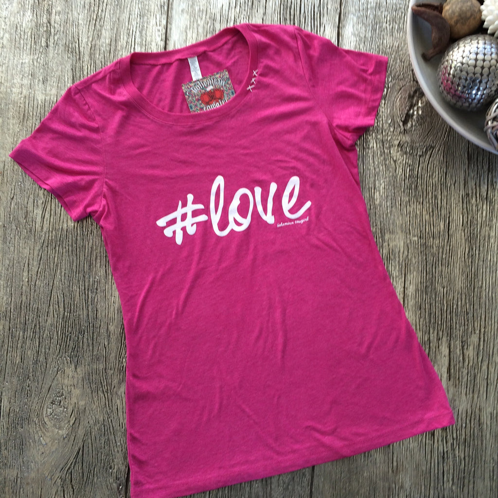 Bohemian Cowgirl #Love T-shirt - Suede Boutique