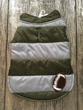 Doggie Green & Gray Stripped Puffer Jacket - Suede Boutique  - 1