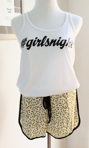 #GirlsNight White T