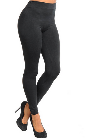 Fleece Lined Me Up Leggings - Black