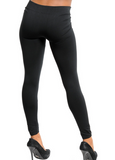 Fleece Lined Me Up Leggings - Black - Suede Boutique  - 2