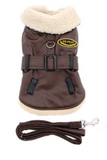 Doggie Faux Leather Bomber Harness & Leash - Suede Boutique  - 3