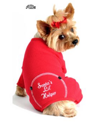 Doggie Christmas PJ's Santas Lil Helper