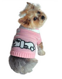 Doggie Dreaming Pink Sweater - Suede Boutique  - 1