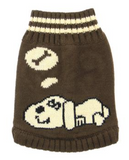 Doggie Dreaming Brown Sweater - Suede Boutique  - 2