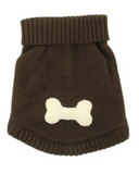 Doggie Brown Bone Sweater - Suede Boutique  - 2