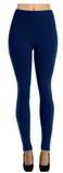 Fleece Lined Me Up Leggings - Navy - Suede Boutique