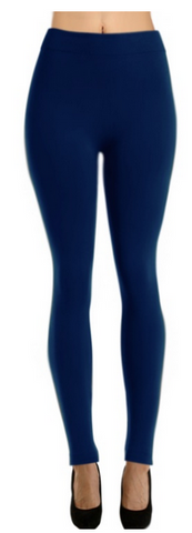 Fleece Lined Me Up Leggings - Navy
