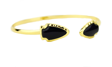 Shira Melody: Grayson Bracelet- Black - Suede Boutique  - 1