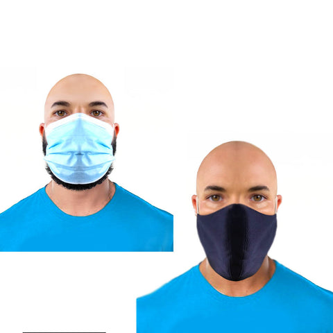 NEW! 2 Layered Cloth Face Mask for Small or Big Beards