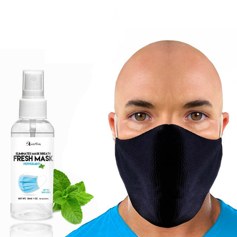 Face Mask for Beards with Fresh Mask Peppermint Spray to cover mask breath. face mask for men. beards, bearded, beard products , black face mask, xl face mask for beards, mens face mask, face mask spray, beard care, health care