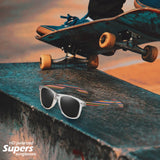 Miami Collection- Skateboard Wooden Sunglasses with Polarized Lens UV400