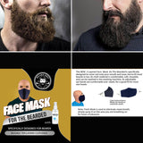 NEW! 2 Layered Cloth Face Mask for Small or Big Beards with Fresh Mask Spray