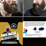 Black Face Mask for Small or Big Beards with Fresh Mask Spray