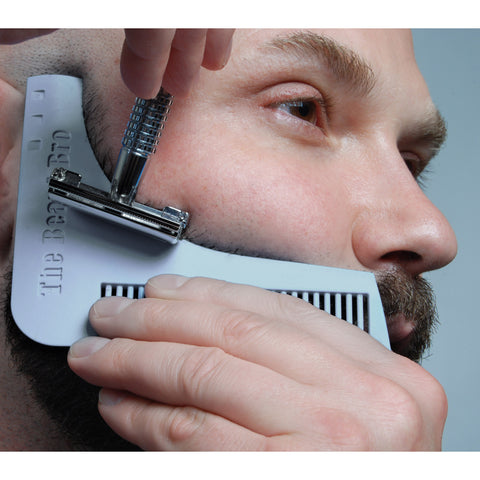 Gray- The Beard Bro Beard Shaping Tool For Perfect Lines and Symmetry