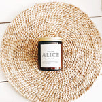 Personalised Candle Alice