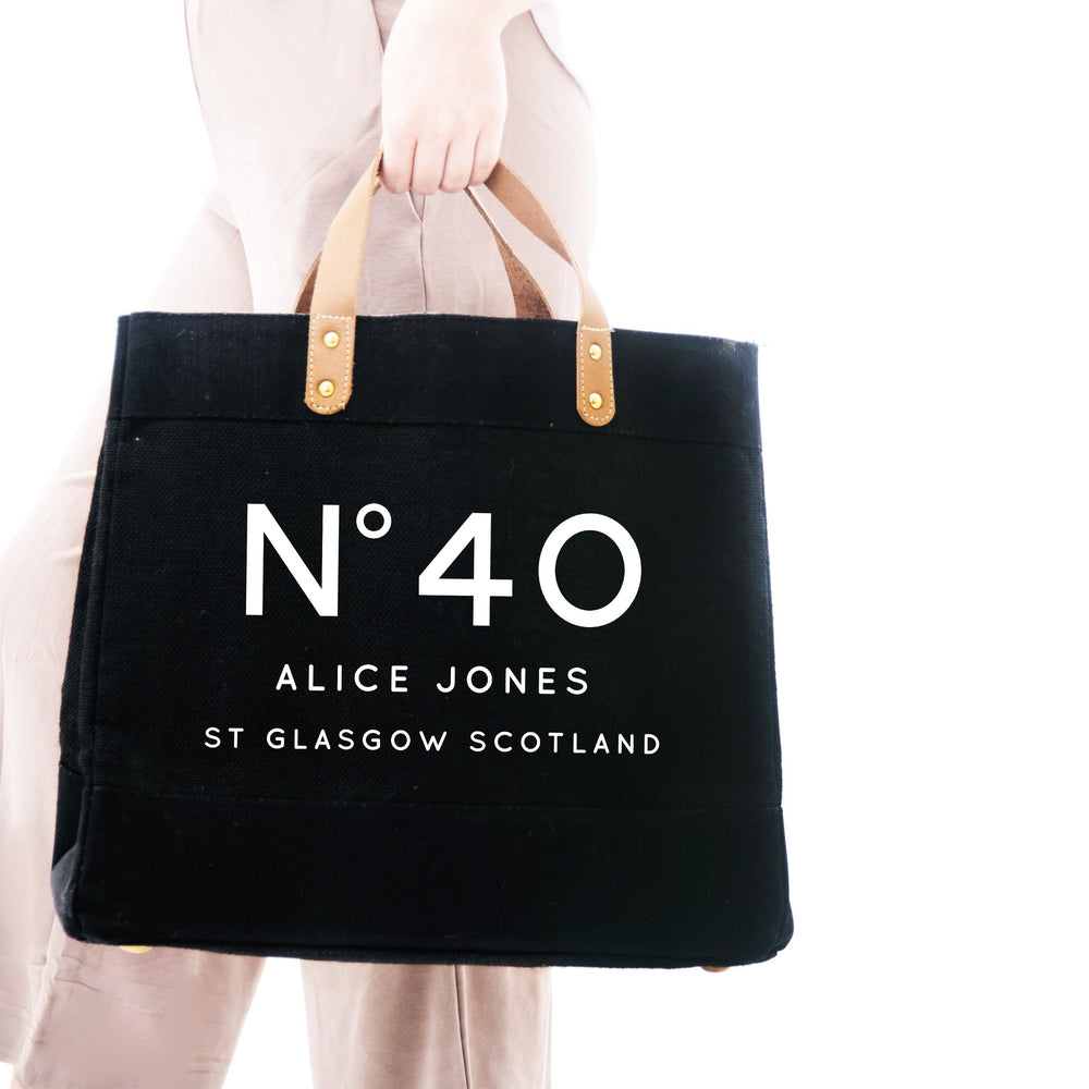 Personalised Bag | 40th Birthday Gift | Personalised Shopping Bag | Gift ideas for Her | Custom Beach Bag | Custom Bag | Custom Shopping Bag