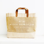 Personalised Jute Tote Shopping Bag | 40th Birthday Gift | Forty and Fabulous Gift