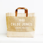 Personalised Jute Tote Shopping Bag