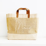 Personalised Jute Tote Bag | Custom Mama Bag