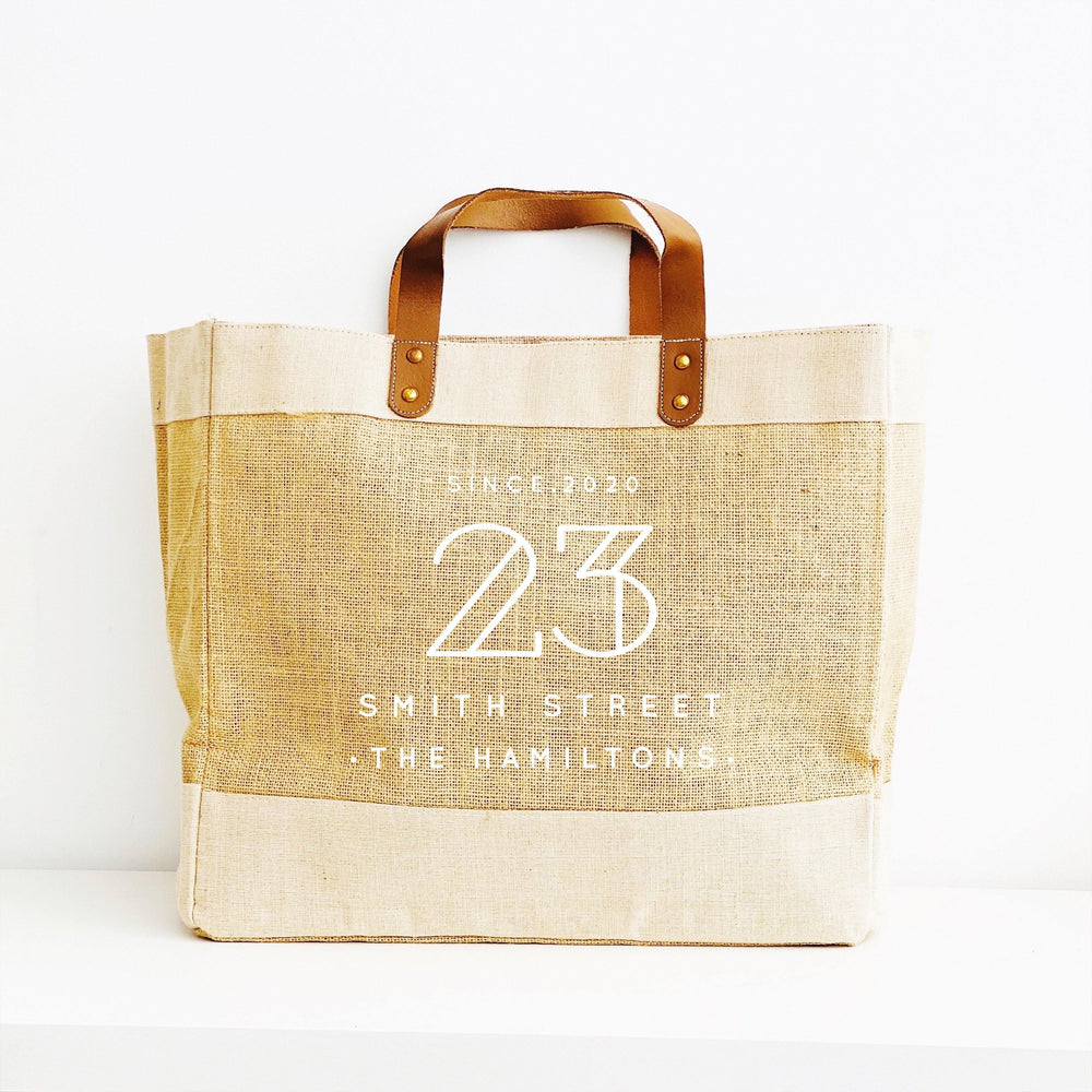 Personalised Jute Tote Bag | Custom Place Tote Bag - Glam and Co