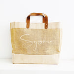 Personalised Jute Tote Bag - Name