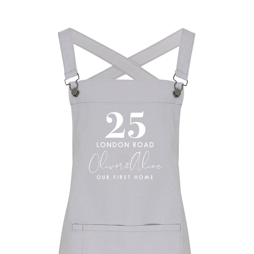 Personalised Barista Apron | Our First Home Apron - Glam & Co Designs Ltd