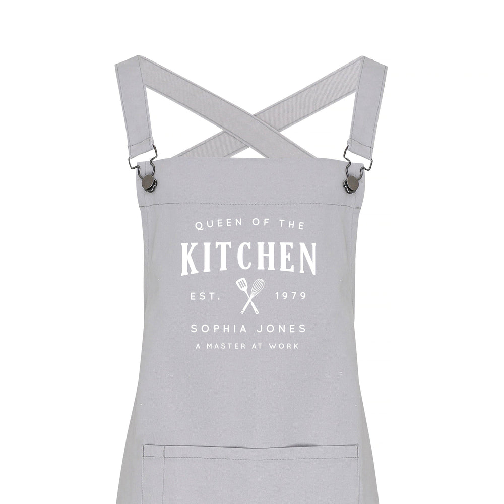 Personalised Barista Style Apron - Queen of the Kitchen - Glam & Co Designs Ltd