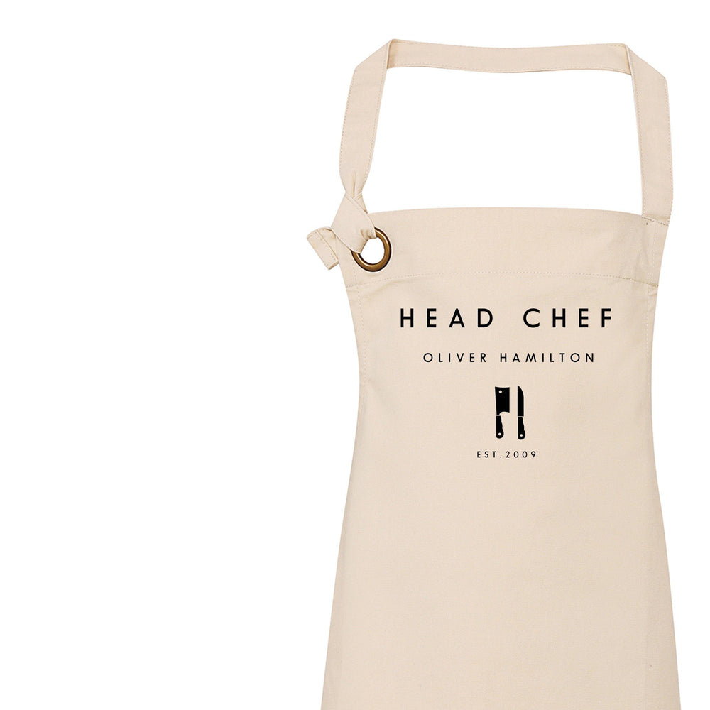 Head Chef Apron | Personalised Apron for Him - Glam & Co Designs Ltd