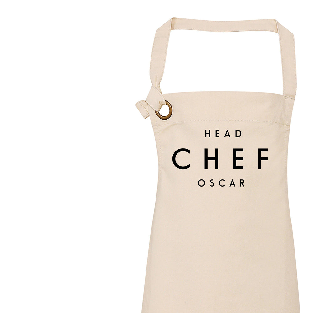 Head Chef Apron, Personalised Apron for Her and Him