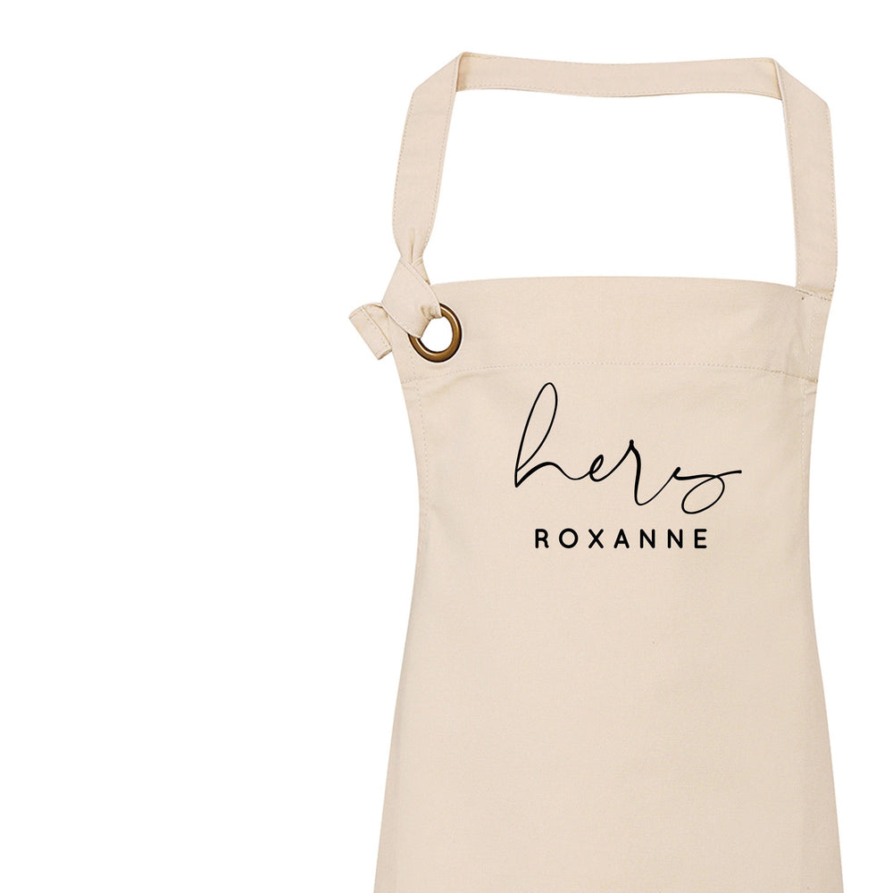 Personalised Aprons for Women and Men, His Apron - Glam & Co Designs Ltd
