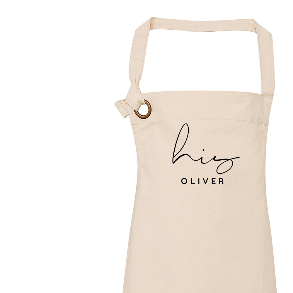 Personalised Aprons for Women and Men, Hers Apron - Glam & Co Designs Ltd