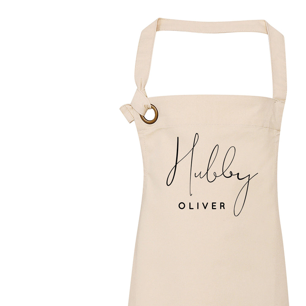 Hubby Personalised Apron | Personalised Apron for Him - Glam & Co Designs Ltd